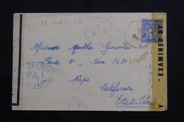 FRANCE - Arc De Triomphe 4frs Sur Enveloppe De Montrevel Pour Les USA En 1944 Avec Contrôle Postal - L 61407 - 1921-1960: Periodo Moderno