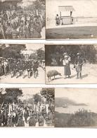 LOT DE 6 PHOTOS DE CORFOU TRES ANIMEES DEFILE MILILTAIRE EN AUTRE - Old Paper