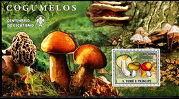 AZ3717 Sao Tome And Principe 2007 Mushroom Fungus S/S MNH - Plants