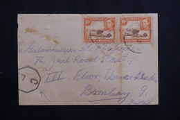 KENYA / OUGANDA / TANGANYIKA - Enveloppe Pour Bombay En 1944, Affranchissement Plaisant, Cachet De Contrôle - L 61409 - Kenya, Uganda & Tanganyika