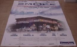 AFFICHE CINEMA ORIGINALE FILM SMOKE Wayne WANG KEITEL HURT NEW YORK BROOKLYN 1995 TBE - Affiches & Posters