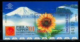 AZ3718 Indonesia 2001 Mount Fuji And Sunflower Flower M MNH - Plants