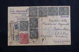 INDE - Carte Commerciale En Recommandé De Bombay En 1936, Affranchissement Plaisant - L 61410 - 1936-47  George VI
