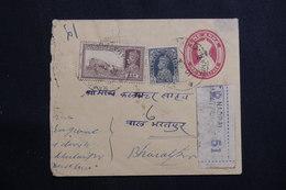 INDE - Entier Postal + Compléments En Recommandé De Bharatpur En 194.., à Voir - L 61411 - 1936-47  George VI