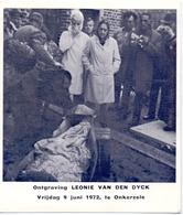 Devotie Overlijden - Ontgraving Leonie Van Den Dyck - Onkerzele 1972 - Announcements