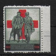 Rotes Kreuz Red Cross 1918 WW1 WK1 Vignet Werbemarke Cinderella Advertisement Propaganda - Fantasie Vignetten