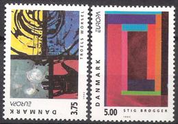 Denmark  1993 Europa: Contemporary Arts  Mi  1052-1053 MNH(**) - Dänemark