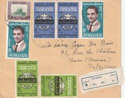 JORDANIE - LETTRE Recommandée Amman Le 17/03/1966 Pour La Belgique - Jordan