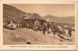 """Missions Du Sud-Afrique - LESOTHO - Le """"khotla"""", Tribunal Indigène Jugeant Un Procès (Basutoland) - Lesotho"""