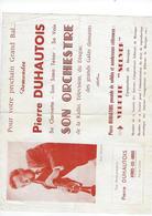 Document  Pierre Duhautois  Son Orchestre 62  Athies Les Arras - Programs