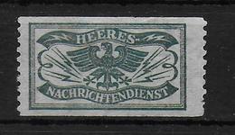 Deutsches Reich Heeres Nachrichtendienst Zettel Kleber Verschlussmarke - Germany