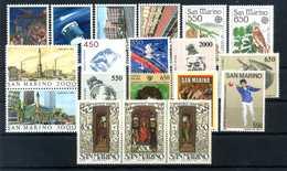 1986 SAN MARINO ANNATA COMPLETA MNH ** (ordinaria - Come Da Scansione) - Saint-Marin