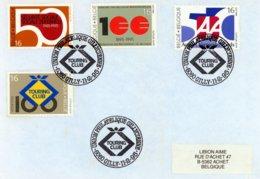2585/88 2X (commémorations) Sur Lettres Avec 2 Cachets DIFFERENTS De Prévente (voir Scan & Descr) - Postmark Collection