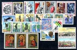 1987 SAN MARINO ANNATA COMPLETA MNH ** (ordinaria - Come Da Scansione) - Saint-Marin