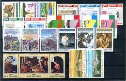 1989 SAN MARINO ANNATA COMPLETA MNH ** (ordinaria - Come Da Scansione) - Saint-Marin