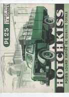 Document  Publicitaire  Hotchkiss  Pl25 3 Avenue Vde Friedland 75 Paris  4 Pages - Cars