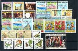 1990 SAN MARINO ANNATA COMPLETA MNH ** (ordinaria - Come Da Scansione) - Saint-Marin