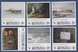 Ross, N° 161 à 166 + Bloc 12 (Huttes Historiques : Scott Discovery, Shackleton Nimrod, Scott Terra Nova ) Neuf ** - Ross Dependency (New Zealand)