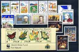 1993 SAN MARINO ANNATA COMPLETA MNH ** (ordinaria - Come Da Scansione) - Saint-Marin