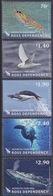 Ross, N° 140 à 144 + Bloc 6 (Chaîne Alimentaire : Krill, Pétrel, Manchot Adélie, Phoque Crabier, Baleine Bleue) Neuf ** - Neufs