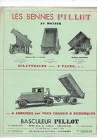 Document  Publicitaire Depliant  2 Pages  Bennes  Basculeur Pillot  92 Levallois Perret Annee 1932 - Cars