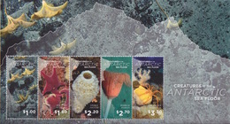 Ross, Bloc N°10 (Créatures Antarctiques : Crinoid, Asterie, Eponge, Hydroid, Araignée) Neuf ** - Ross Dependency (New Zealand)