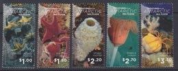 Ross, N° 156 à 160  (Créatures Antarctiques : Crinoid, Asterie, Eponge, Hydroid, Araignée) Neuf ** - Neufs