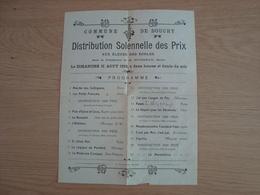 PROGRAMME ECOLES DISTRIBUTION DES PRIX COMMUNE DE DOUCHY LOIRET 11 AOUT 1912 - Programs
