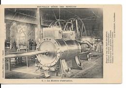 """Mines De LENS - Fosse N° 12 - Pas De Calais (62) : Machine D'extraction (Collection """"Nouvelle Série Des Mineurs""""). CPA. - Mines"""