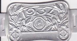 Plaque Fiscale Vélocipèdes 1934 - Steuermarken