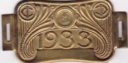 Plaque Fiscale Vélocipèdes 1933 - Steuermarken