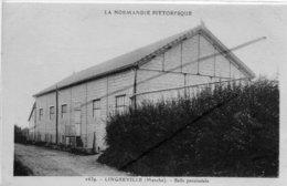 LINGREVILLE   LA SALLE PAROISSIALE RARE TEXTE ET CARTE - Autres Communes