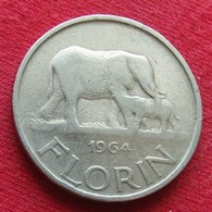 Malawi 1 Florin 1964 KM# 3 Elephant - Malawi