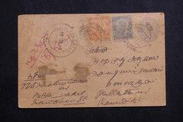 INDE - Entier Postal + Compléments En 1924 Pour Pallathur - L 61423 - 1911-35  George V