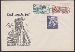 DDR FDC Bergbau MiNr. 597 OSt. Köthen (Anh) Kohle Schaufelradbagger Bergmann Vor Ort - FDC: Covers