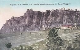 REPUBBLICA DI S. MARINO -  CARTOLINA - IL TITANO E PICCOLO PANORAMA DEL BORGO MAGGIORE - San Marino