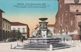 FAENZA (RAVENNA) CARTOLINA - FONTE MONUMENTALE (1621) - Faenza