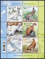 Belarus 2020 - Seasonal Variations. Hare Echte Hasen Weasel Vogel Dieren Partridge Weißrussland/Wit-Rusland/Bielorussia - Belarus