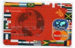 Bank Credit Card Visa - Master Card FLAGS OF THE WORLD - Tarjeta De Credito - Cartes De Crédit (expiration Min. 10 Ans)