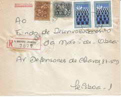S. Bento -  Porto  Registration Label And  Postmark ,   1972 - Postmark Collection