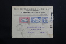 GUADELOUPE - Enveloppe Commerciale De Pointe à Pitre Pour Les USA En  1940 Avec Contrôle Postal - L 61434 - Lettres & Documents