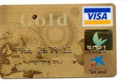 Bank Old Credit Card Spain Visa Or  Master Card  Gold - Tarjeta De Credito - Cartes De Crédit (expiration Min. 10 Ans)
