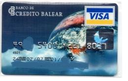 Bank Old Credit Card Spain Visa Or  Master Card  Planet Earth - Tarjeta De Credito - Cartes De Crédit (expiration Min. 10 Ans)
