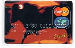 Bank Old Credit Card Spain Visa Or  Master Bull Bullfighter- Tarjeta De Credito - Cartes De Crédit (expiration Min. 10 Ans)