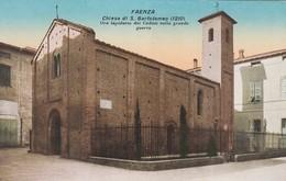 FAENZA (RAVENNA) CARTOLINA -CHIESA DI S. BARTOLOMEO (1210) ORA LAPIDARIO DEI CADUTI NELLA GRANDE GUERRA - Faenza