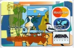 Bank Old Credit Card Spain Visa Or  Master Peinture Sea- Tarjeta De Credito - Cartes De Crédit (expiration Min. 10 Ans)