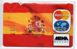 Bank Old Credit Card Spain Visa Or  Master FLAG- Tarjeta De Credito - Cartes De Crédit (expiration Min. 10 Ans)
