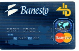 Bank Old Credit Card Spain Visa Or  Master BANESTO- Tarjeta De Credito - Cartes De Crédit (expiration Min. 10 Ans)