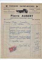 Facture 76 Saint Michel D'halescourt Pierre Aubert Garage Annee 1947 - Cars