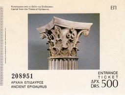 GRECE Epidaure / Ancient Epidaurus 1970 Ticket Entrée Théâtre - Tickets - Entradas